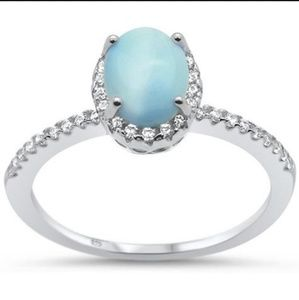 Opal Filigree Ring with CZ Stones
